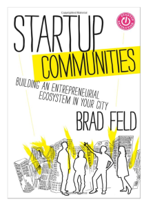 Book cover of Startup Communities by Brad Feld